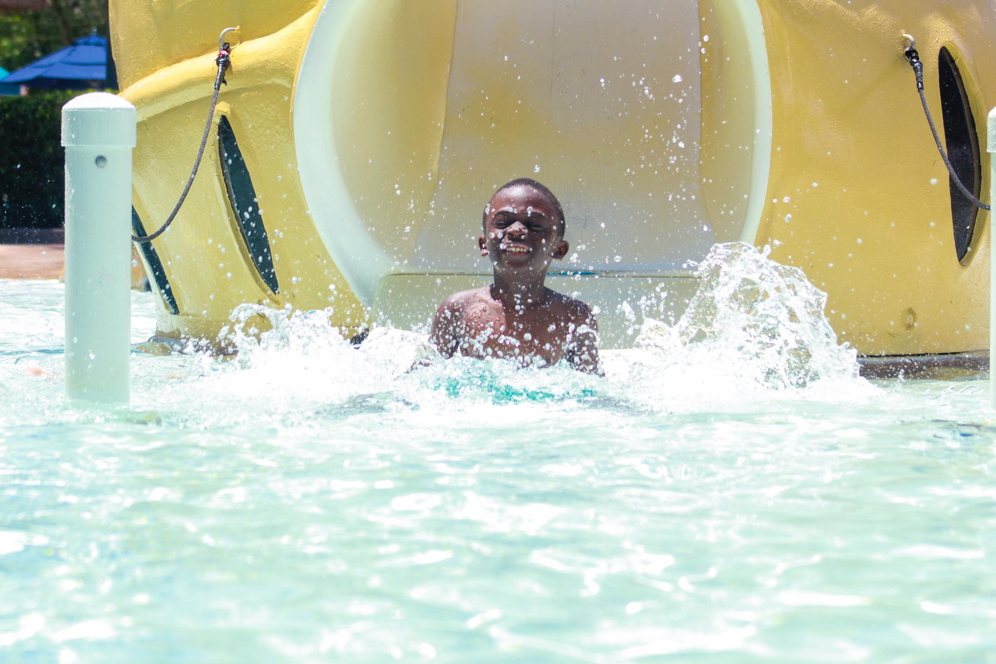 My son at Gaylord Palms Resort